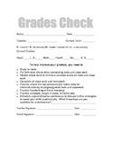 Grade Reporting Sheets (English and Spanish)