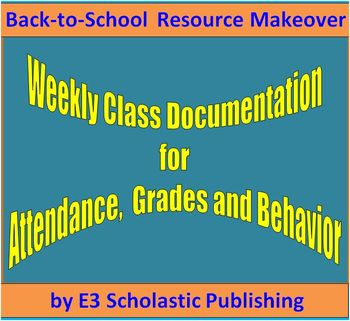 Weekly Grades and Behavior Management Spreadsheet - Back-t