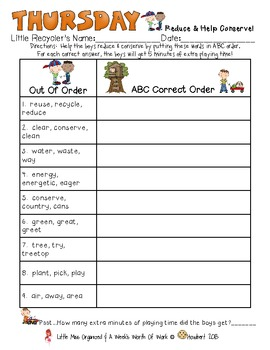 Weekly Grammar & Language Earth Day Packet