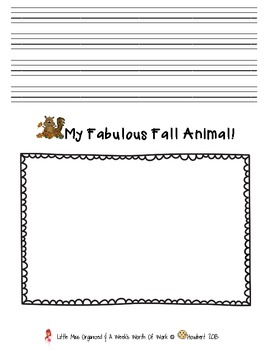Weekly Grammar & Language:  Fall Animals!