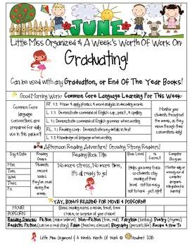 Weekly Grammar & Language Graduating Packet
