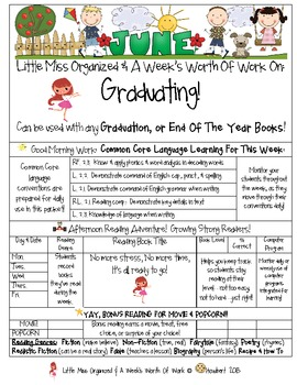 Weekly Grammar & Language Graduating Packet