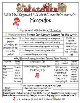 Weekly Grammar & Language Mooseltoe Packet