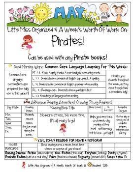 Weekly Grammar & Language Pirates Packet