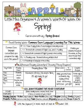Weekly Grammar & Language Spring Packet