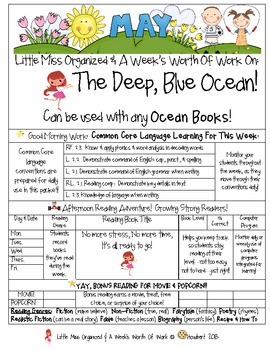 Weekly Grammar & Language The Deep, Blue Ocean Packet