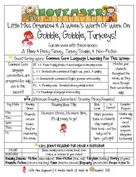 Weekly Grammar & Language Turkey Packet