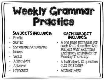 Weekly Grammar Practice