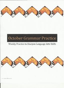 Weekly Grammar Practice for October
