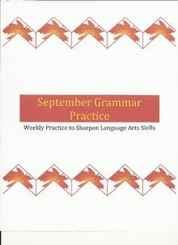 Weekly Grammar Practice for September