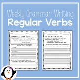 Weekly Grammar Writing - Regular Verbs
