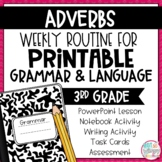 Grammar Third Grade Activities: Adverbs
