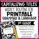 Weekly Grammar and Language Activities: Capitalizing Book Titles