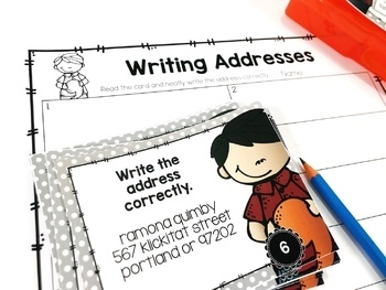 Weekly Grammar and Language Activities: Commas in Addresses