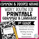 Weekly Grammar and Language Activities: Common and Proper Nouns