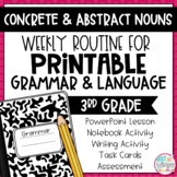 Grammar Third Grade Activities: Concrete and Abstract Nouns