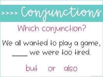 Weekly Grammar and Language Activities: Conjunctions