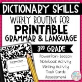 Weekly Grammar and Language Activities: Dictionary Guide Words