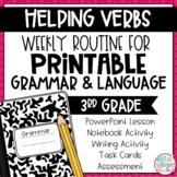 Weekly Grammar and Language Activities: Helping Verbs