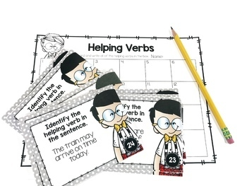 Weekly Grammar and Language Activities: Helping Verbs