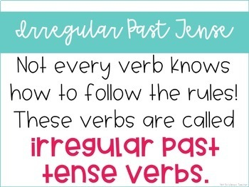 Weekly Grammar and Language Activities: Irregular Past Tense Verbs