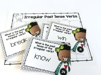 Weekly Grammar and Language Activities: Irregular Past Tense Verbs