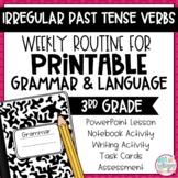 Grammar Third Grade Activities: Irregular Past Tense Verbs