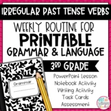 Grammar Third Grade Activities: Irregular Past Tense Verbs