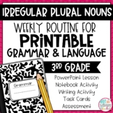 Grammar Third Grade Activities: Irregular Plural Nouns