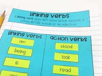 Weekly Grammar and Language Activities: Linking Verbs