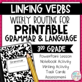 Weekly Grammar and Language Activities: Linking Verbs
