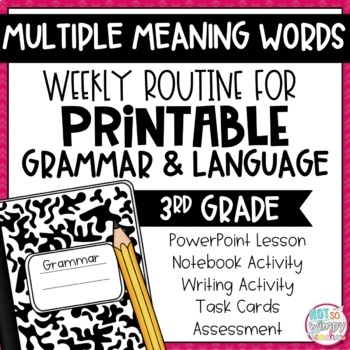 Weekly Grammar and Language Activities: Multiple Meaning Words