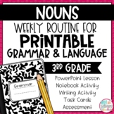 Grammar Third Grade Activities: Nouns