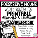 Grammar Third Grade Activities: Possessive Nouns