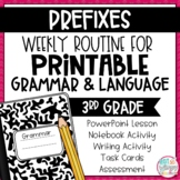 Weekly Grammar and Language Activities: Prefixes