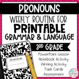 Grammar Third Grade Activities: Pronouns