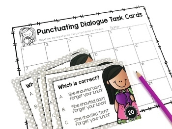 Weekly Grammar and Language Activities: Punctuating Dialogue