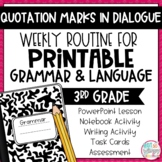 Grammar Third Grade Activities: Punctuating Dialogue