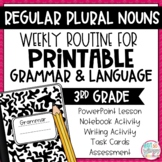 Grammar Third Grade Activities: Regular Plural Nouns