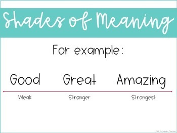 Weekly Grammar and Language Activities: Shades of Meaning