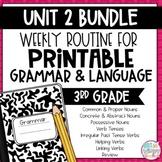 Grammar Third Grade Activities: Unit 2