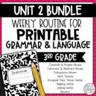 Weekly Grammar and Language Activities: Unit 2 Growing BUNDLE
