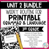 Grammar Third Grade Activities: Unit 2