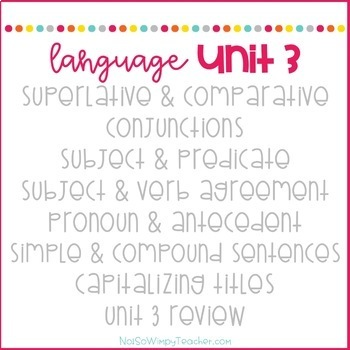 Weekly Grammar and Language Activities: Unit 3