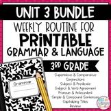 Weekly Grammar and Language Activities: Unit 3