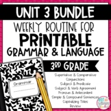 Grammar Third Grade Activities: Unit 3