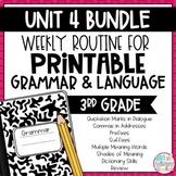 Grammar Third Grade Activities: Unit 4