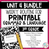 Grammar Third Grade Activities: Unit 4