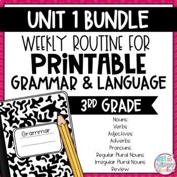 Weekly Grammar and Language Activities: Unit One BUNDLE