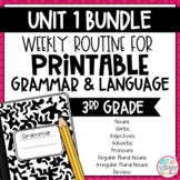 Grammar Third Grade Activities: Unit 1